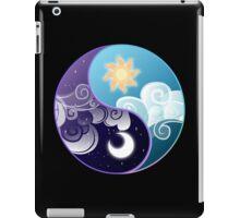 Celestia/Luna Sky and Clouds Yin Yang - Subtle Brony iPad Case/Skin