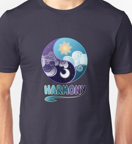 Celestia/Luna Yin Yang - Clouds and Harmony Version Unisex T-Shirt