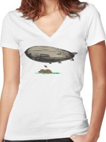 No Ticket Women's Fitted V-Neck T-Shirt