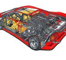 Sports Car Cutaway by rmonahan91