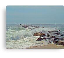Jetty - Island Beach State Park NJ Canvas Print