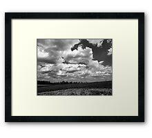 The sky speaks volumes Framed Print
