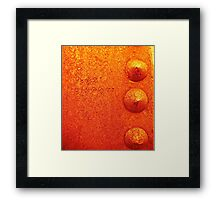Triple Rivets Framed Print