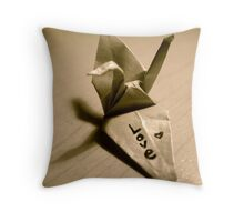 Origami Love Throw Pillow