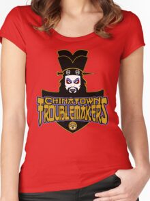 Chinatown Troublemakers Women's Fitted Scoop T-Shirt