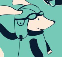 Wiener Dog Aviator Sticker