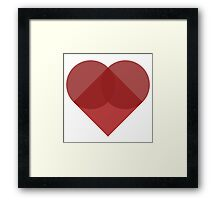 All You Need Is Art - love heart valentine fun cute romance Framed Print