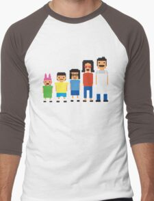 8-Bit Burgers Men's Baseball ¾ T-Shirt