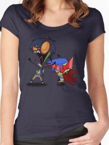 Invader Zim / Gurren Lagann Women's Fitted Scoop T-Shirt