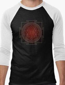 Sri Chakra Australis - Large Men's Baseball ¾ T-Shirt