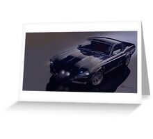 night time Mustang Eleanor Greeting Card