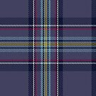 00468 Blue Toon District Tartan Fabric Print Iphone Case by Detnecs2013