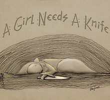 A Girl Needs A Knife by Lisa Snellings