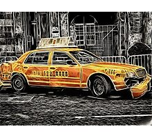 Taxi for Govan Photographic Print