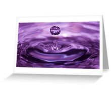 Water droplet Greeting Card