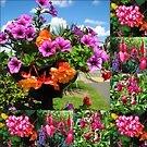 Pink Delight - Summer Flowers Collage by BlueMoonRose