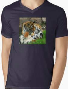 Grooming Tigers Mens V-Neck T-Shirt