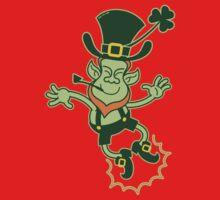 Irish Leprechaun Clapping Feet Kids Tee