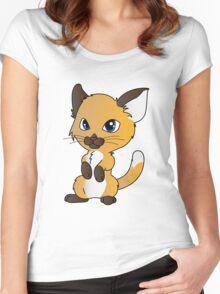 Cute Kitten Women's Fitted Scoop T-Shirt