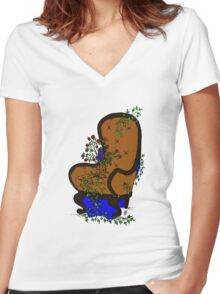 LivingChair Women's Fitted V-Neck T-Shirt