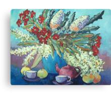 Summer flowers , acrylic Canvas Print