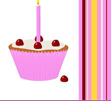 Happy Birthday / Cupcake by Jacqueline Turton