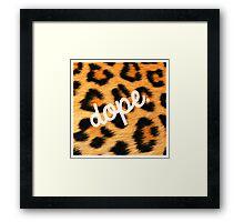 Leopards are Dope Framed Print