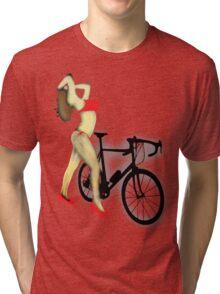 SEXY Cycle BIKE PRINT  Tri-blend T-Shirt