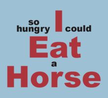 EAT HORSE HUNGRY Kids Clothes
