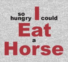 EAT HORSE HUNGRY Kids Tee