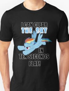 Rainbow Dash - Ten Seconds Flat Unisex T-Shirt