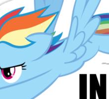Rainbow Dash - Ten Seconds Flat Sticker