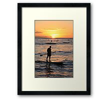Stand Up Paddle Boarder Framed Print