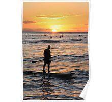 Stand Up Paddle Boarder Poster