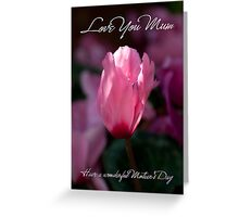 Mum Mother's Day Greeting Card With Delicate Pink Flower Greeting Card