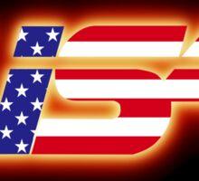 USA - Flag Logo - Glowing Sticker