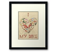 I Love My Bike Framed Print