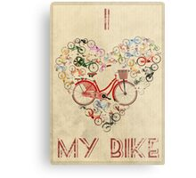 I Love My Bike Metal Print