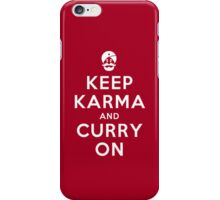 Keep Karma And Curry On iPhone Case/Skin