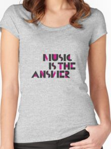 Music is the Answer II Women's Fitted Scoop T-Shirt