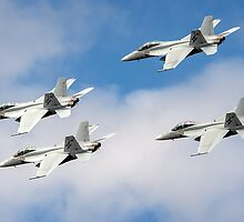 RAAF F/A-18F Super Hornets by John Conway