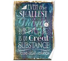 Substance - Earth Lifts Sky - Quote Poster