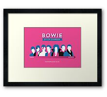 Bowie ch-ch-changes Framed Print
