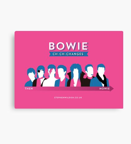 Bowie ch-ch-changes Canvas Print