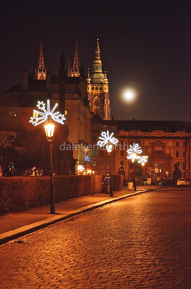 Prague street on a Christmas night , retouched, which is best? by dalekenworthy