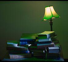Books & Lamp by Monique Wajon