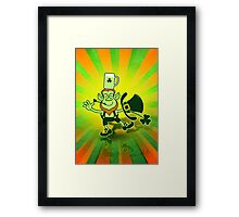 Leprechaun Balancing a Glass of Beer on his Head Framed Print