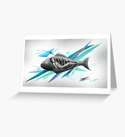Underwater Prison - abstract Greeting Card
