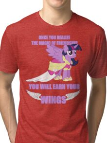 Twilight Sparkle - Earn Your Wings Tri-blend T-Shirt