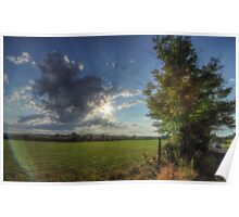Hayfield Road Cloudscape Poster